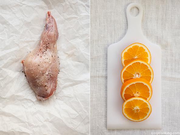 kaninchen mit orangen koriander sauce sonntagsessen